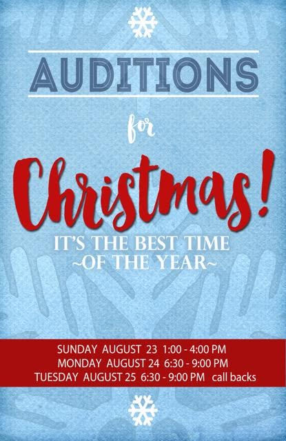 Christmas Audition Poster
